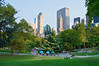 """City View Central Park""  A Summer view of Central Park and surrounding buildings in Manhattan."