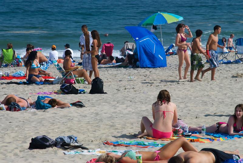 Beach scene in Belmar, along the Jersey shore.