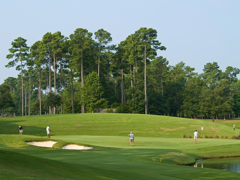 Activity on the TPC Myrtle Beach Golf Course in South Carolina.