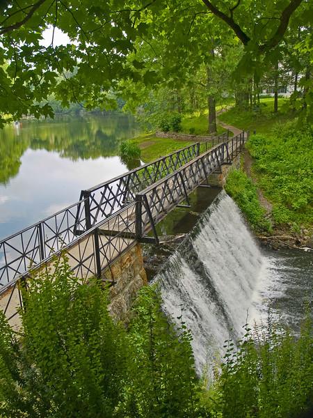 Footbridge Falls near Blairstown, NJ on a nice Summer day.