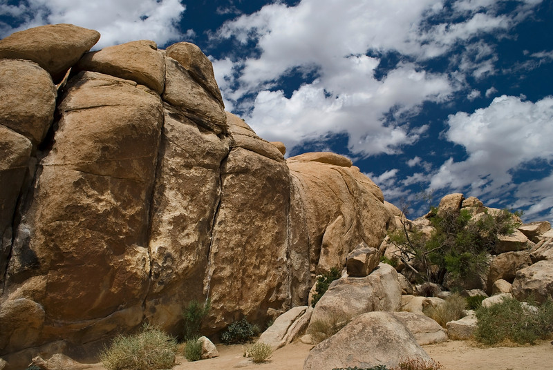 Clouds and Stone<br /> <br /> Joshua Tree National Park, near Palm Springs California.