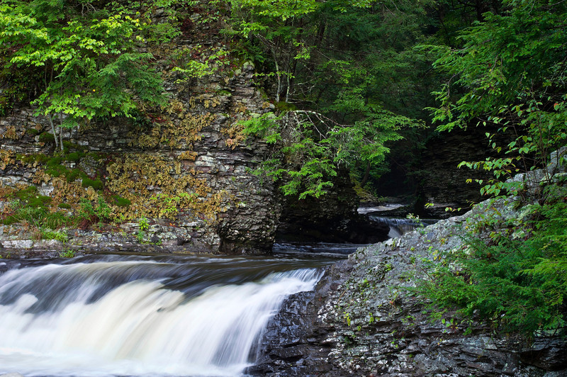 """Pocono Flowing Stream"" <br /> <br /> A flowing stream near Ramondskill Falls in the Pocono Mountains of Pennsylvania."