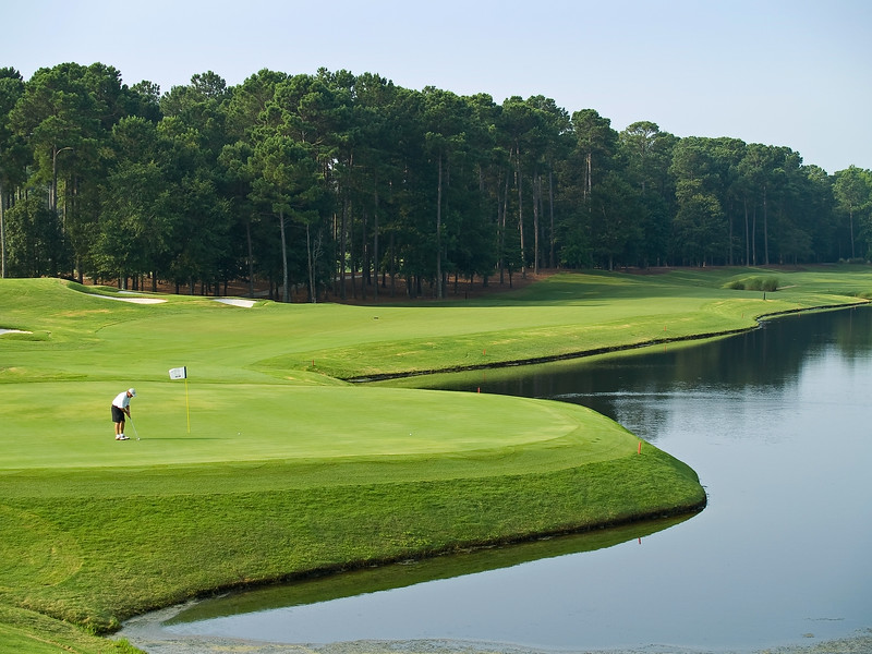 """Final Shot"" A view from the 18th hole at the TPC Golf Course near Myrtle Beach in south Carolina."