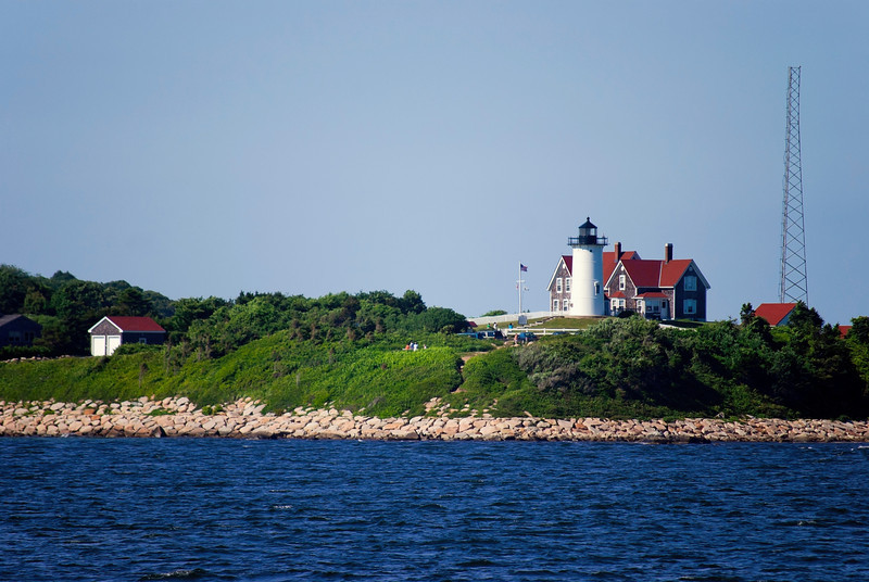 """Nobska Lighthouse""  A waters view of the Nobska Lighthouse near Woods Hole<br /> on Cape Cod in Massachusetts."