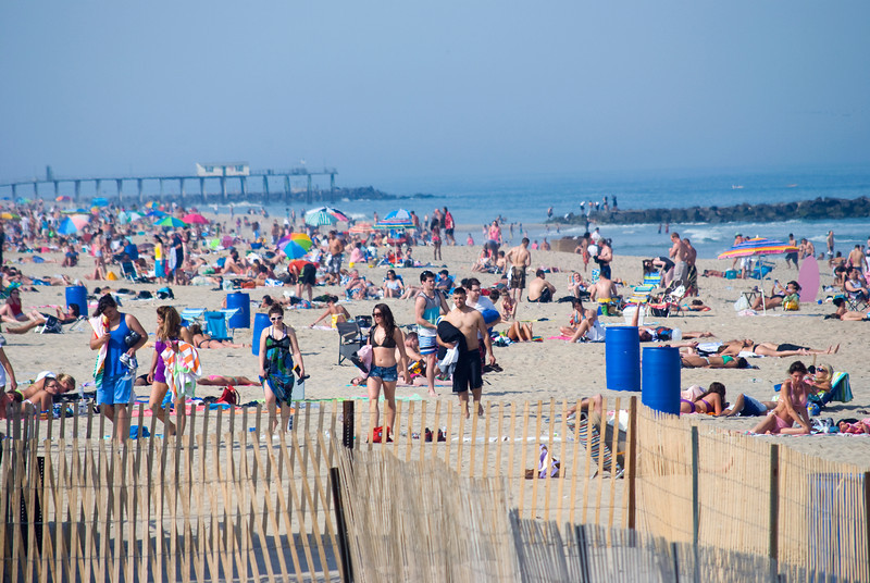 Beach scene in Belmar, along the Jersey shore.
