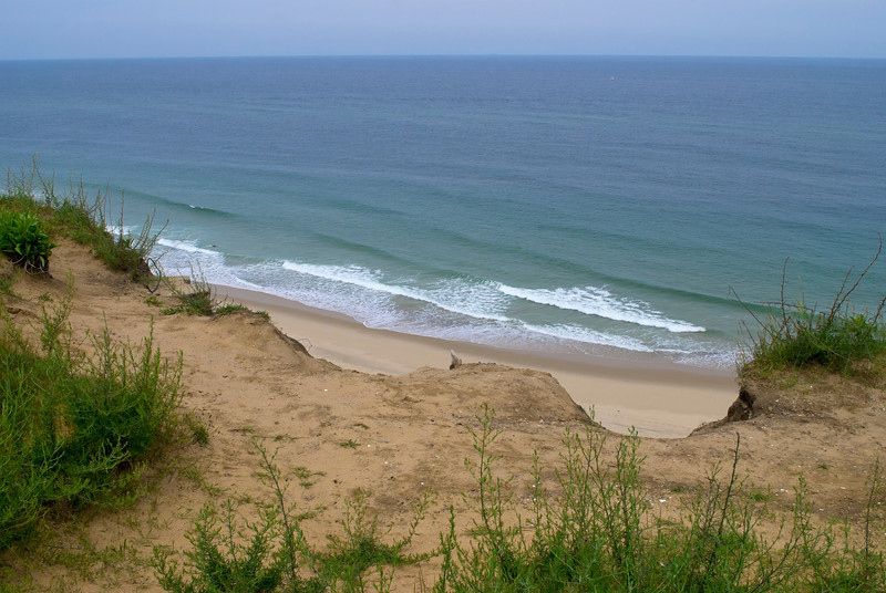 """Beach Overlook"" <br /> 2011 A view from a cliff of the Atlantic Ocean and beach on Cape Cod."