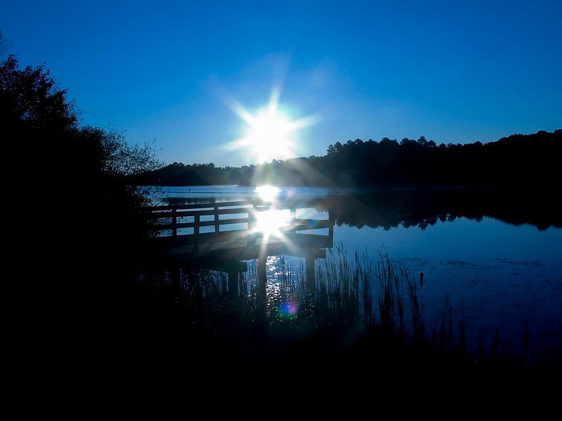 """Morning Rise""<br /> The sunrise over a lake in Jackson, New Jersey."