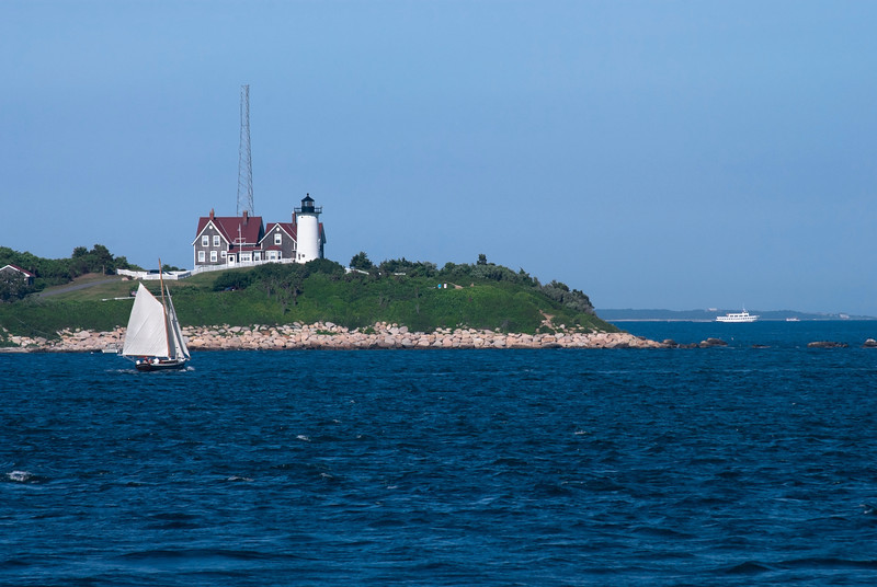 """Nobska Lighthouse View""<br /> <br /> A bay view of the Nobska Lighthouse near Woods Hole, Cape Cod Massachusetts."