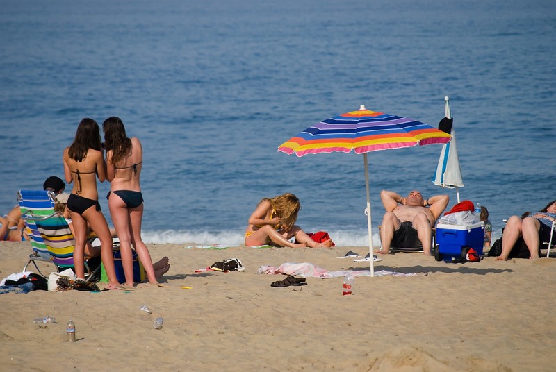 """Belmar Beach""<br /> Beach scene in Belmar, along the Jersey shore."