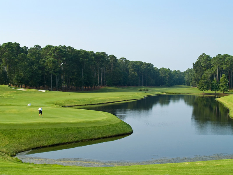 """Good Golf Day""<br /> A nice view of the 18th hole at the TPC Golf Course near Myrtle Beach in South Carolina."