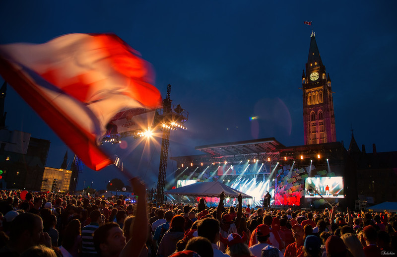 Canada day 2013 celebration at the Parliament of Canada, Ottawa.