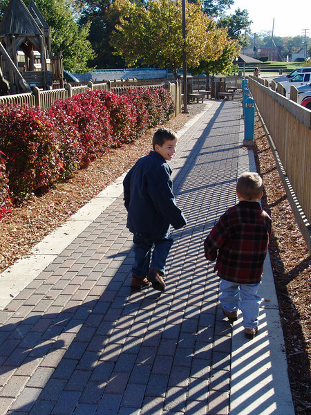 Kids can't wait to get to Imagination Station in downtown Brighton.