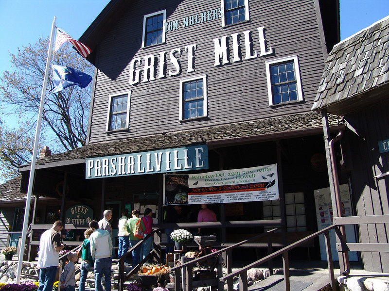 Tom Walker's Grist Mill in Parshallville, Michigan... you can still see parts of the old mill.