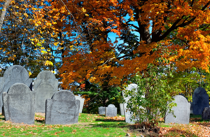 Among the gravestones - Old Hill Burying Ground