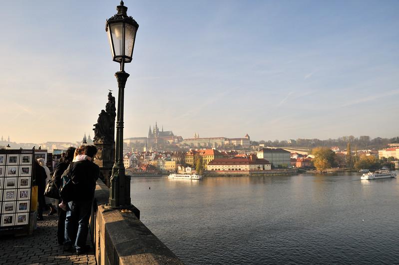 Charles Bridge over the Vitava River - Prague, Czech Republic