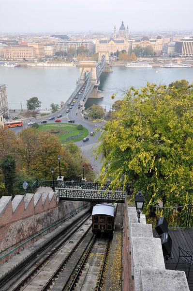 Budavari Siklo funicular railway - Budapest, Hungary