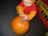 Tim and his pumpkin