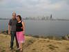 Julia und Jens vor Downtown