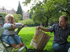 Picknick auf dem Uni-Campus