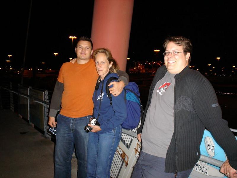 Michi, Sigrid und Marco des nachts