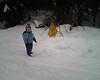 Papa und Tim beim Schnee-Ausflug: So hoch war der Schnee!