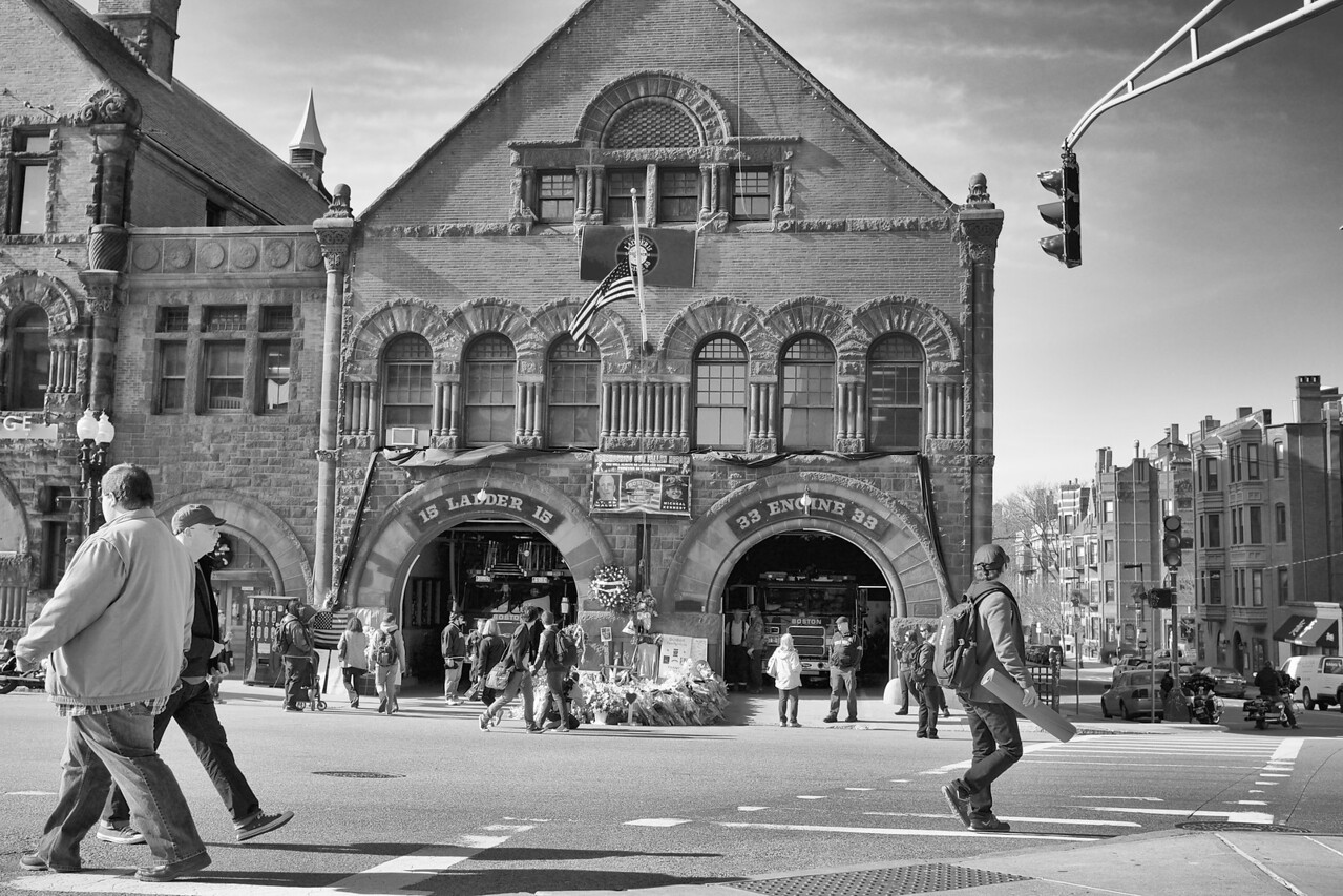 Fire house in Boston