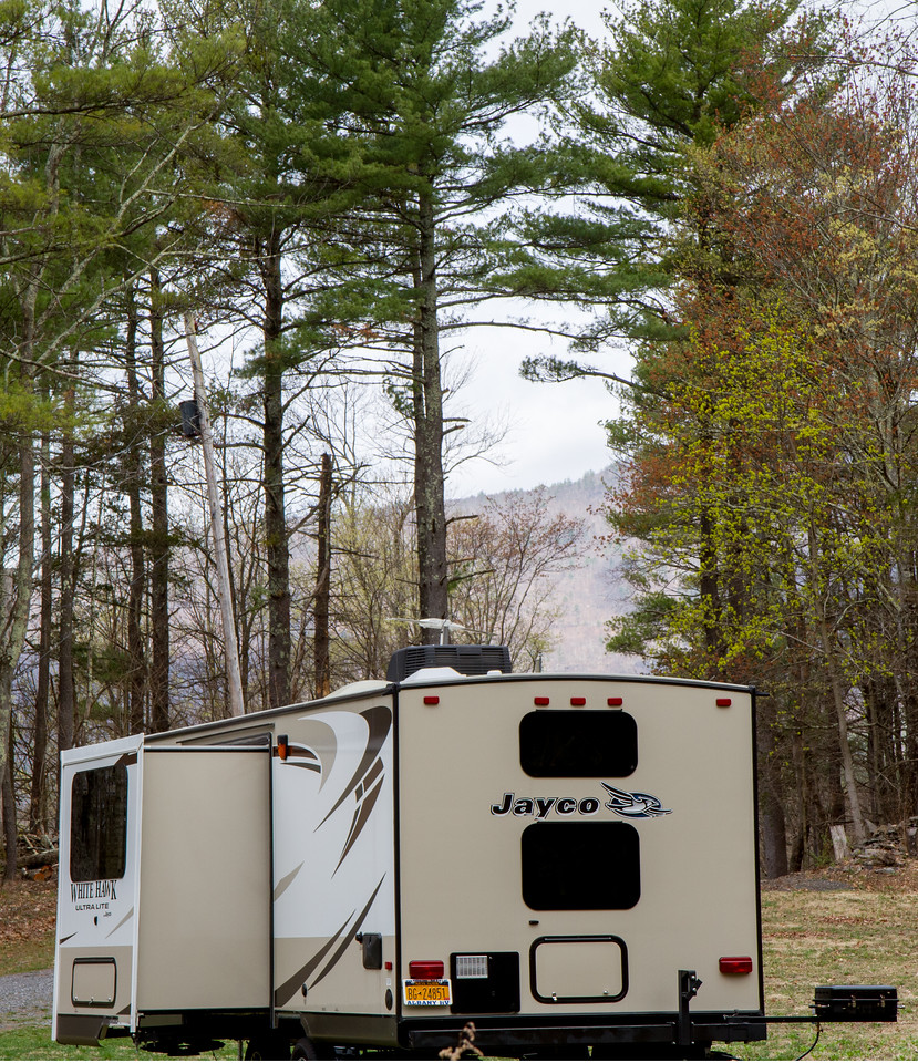 A camper at home in the Catskills