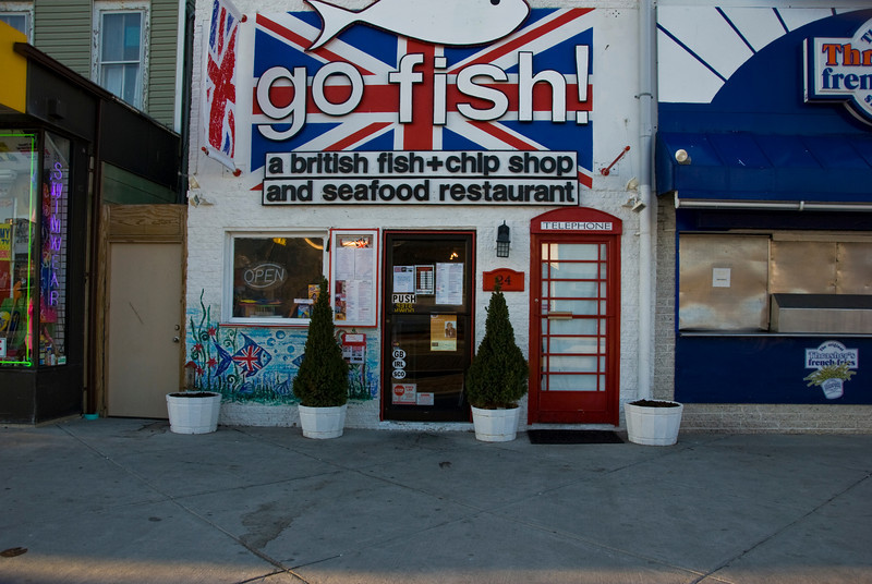 A little taste of Britan here at the Go Fish, fish & chip shop.  I love thier door!