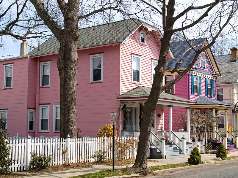 """Pink House""<br /> A pink house in the Jersey shore town of Ocean Grove."