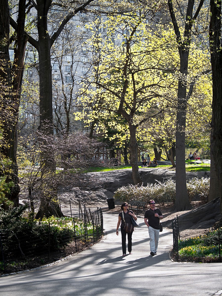 """Spring Walk, Central Park""<br /> <br /> A couple walk through Central Park in Manhattan on a bright Spring day."