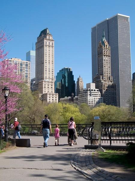 """Walk in Park""<br /> A family walks through Central Park in the Spring."