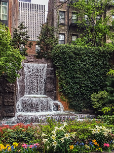 City Waterfall in Park