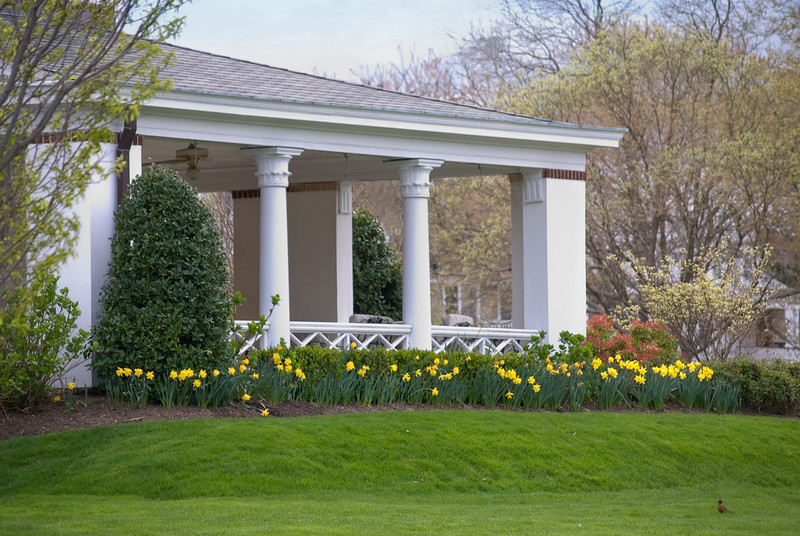 """Spring Columns""<br /> A Spring garden surrounds this South New Jersey home."
