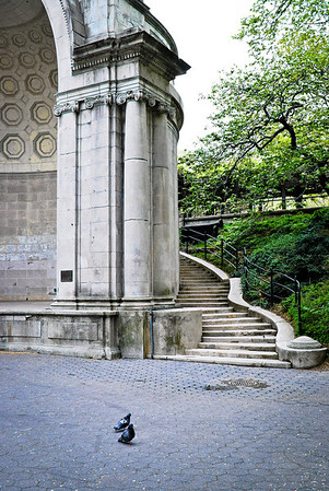 """Central Park Band shell"" A view of the Central Park band shell in Manhattan."