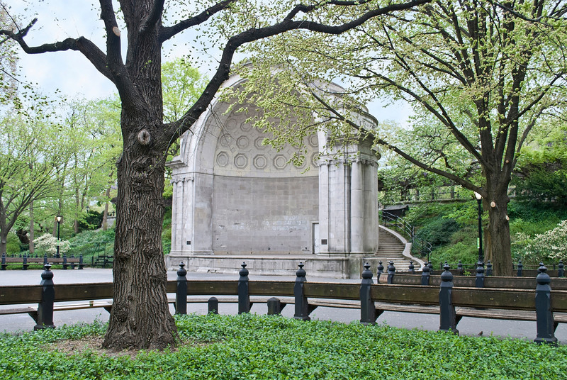 """Park Band Shell""<br /> The old band shell in Central Park in New York City."