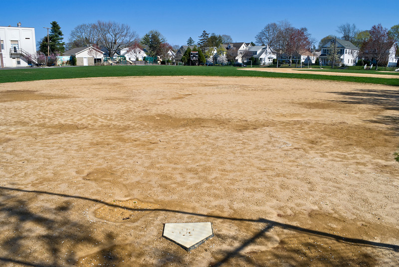 A neighborhood baseball field ib Spring Lake, New Jersey.