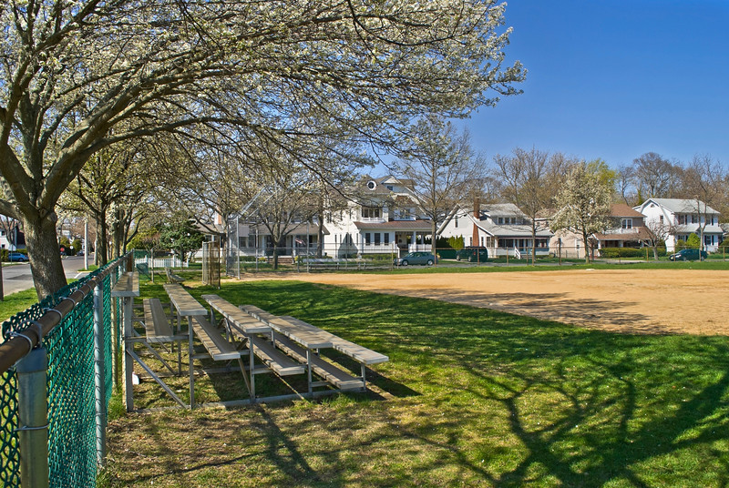 A neighborhood ball field in Spring Lake, New Jersey.