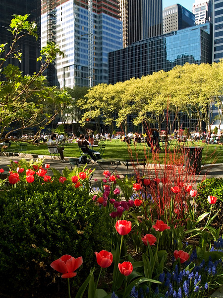 """Bryant Park Spring""<br /> A beautiful Spring day in Bryant Park in Manhattan."