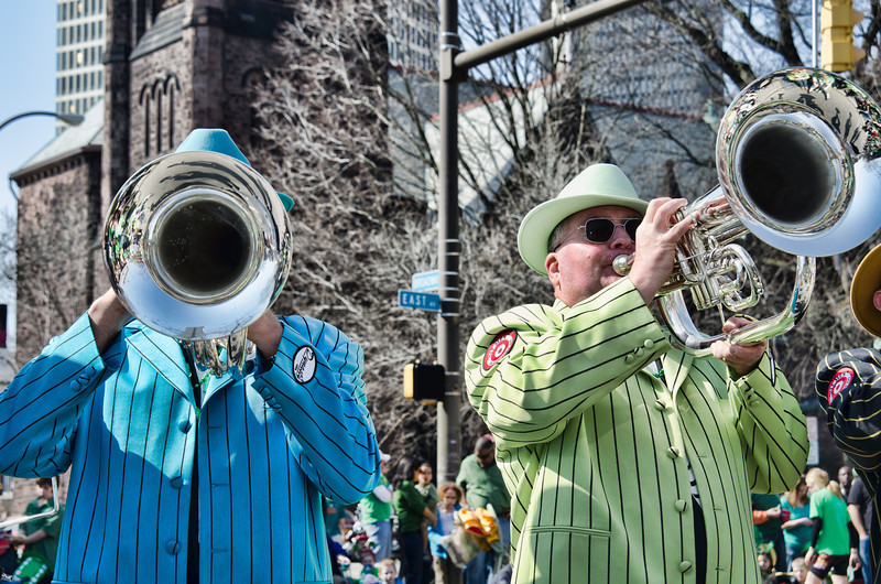 Okay, so the St. Patrick's Day parade is technically *before* Spring officially starts, but these horns on this awesomely (and unusual) gorgeous and hot March 17th day for Rochester NY were surely heralding Spring's coming!