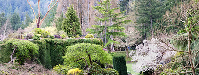 Panorama of Butchart Gardens, Vancouver, Canada