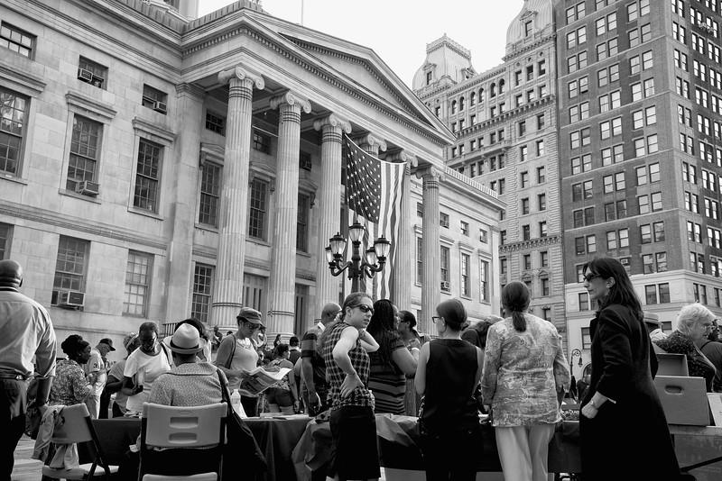 A rally in Brooklyn