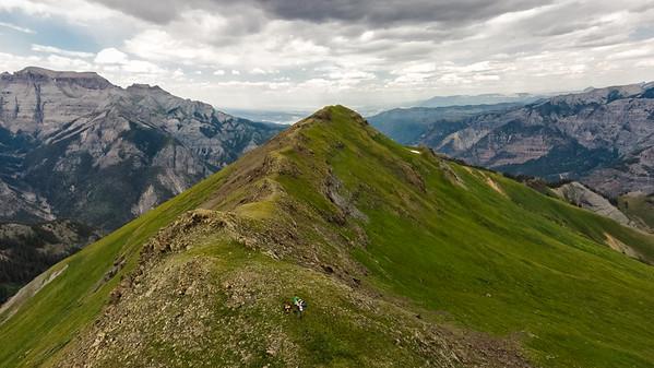 Looking North down the spine of Mt. Hayden