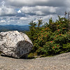 Glacial boulder on Mount Cardigan, New Hampshire