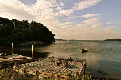 Lookout Point in Harpswell, Maine.