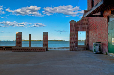 Carson Beach in South Boston.  Striking red brick on ocean blue makes this place a lovely little sanctuary.
