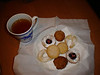 Hot Cider and our home-made Cookies