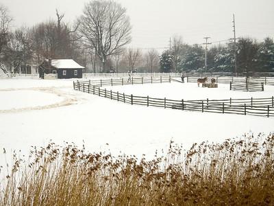 """Rural Farm Scene"" A Winter scene of an old farm in rural Central New Jersey."