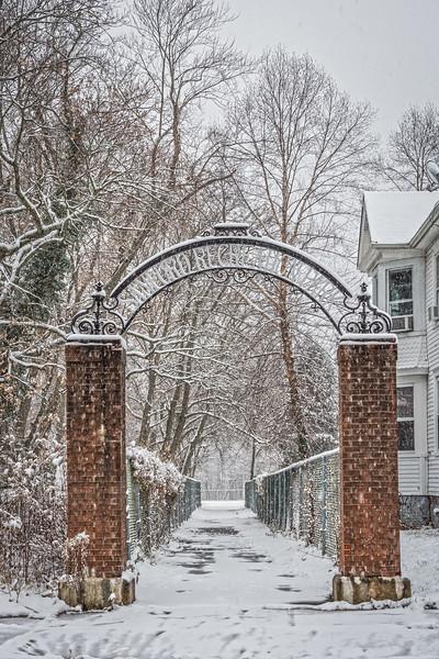 Snowy Park Entrance