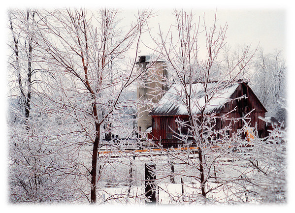"""Frigid Scene""  A vintage photograph from the early 1980's taken in Warren County, New Jersey during an ice storm off of Route 80."