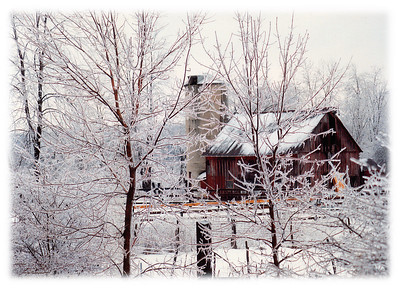"""""""Frigid Scene""""  A vintage photograph from the early 1980's taken in Warren County, New Jersey during an ice storm off of Route 80."""